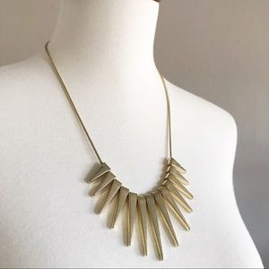 Express gold spike statement necklace